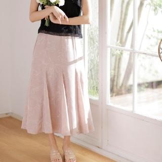 イング(INGNI)の花柄 マーメイドスカート(ロングスカート)