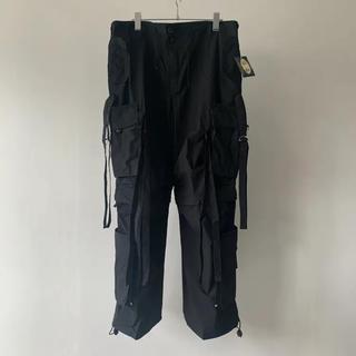 マルタンマルジェラ(Maison Martin Margiela)のUK LABEL Techno pants black〘求〙(ワークパンツ/カーゴパンツ)