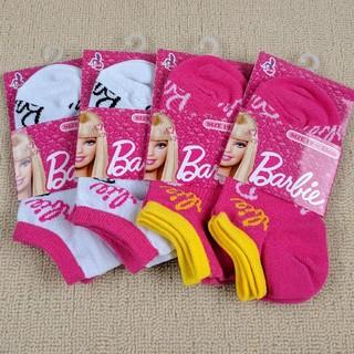 バービー(Barbie)の【新品】Barbie バービー♡スニーカーソックス 4足セット 19〜21cm(靴下/タイツ)