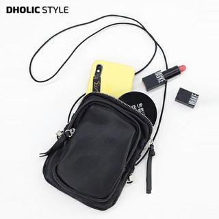 dholic - ジップポケットショルダーバッグ