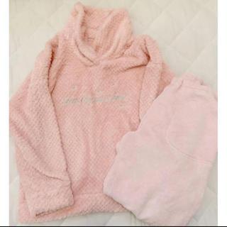 ジーユー(GU)のもこもこ ルームウェア パジャマ ピンク 可愛い おしゃれ(パジャマ)