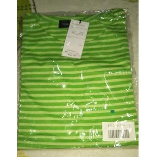 ニッセン(ニッセン)の緑色 ボーダーTシャツ(Tシャツ(半袖/袖なし))