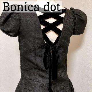 ボニカドット(bonica dot)のBonica dot ミニワンピース ドレス フリーサイズ(ミニワンピース)