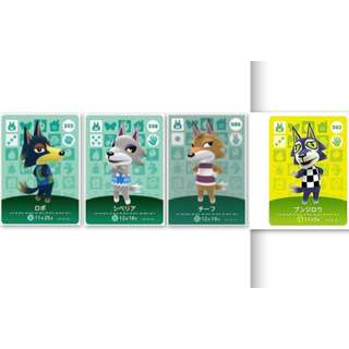 ニンテンドースイッチ(Nintendo Switch)のあつまれどうぶつの森 amiiboカード オオカミ3種(カード)