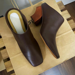 TODAYFUL - TODAYFUL  Leather Square Muleレザースクエアミュール