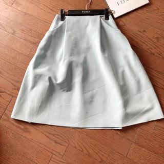 フォクシー(FOXEY)の【美品】フォクシーNY イリプスロングスカート(ソフィーブルー) 38(ひざ丈スカート)