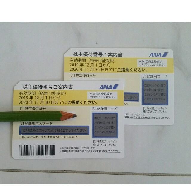 ANA 全日空株主優待券 2枚セット チケットの優待券/割引券(その他)の商品写真