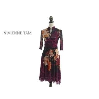 ヴィヴィアンタム(VIVIENNE TAM)のVIVIENNE TAM ヴィヴィアンタム ワンピース 花柄(ひざ丈ワンピース)
