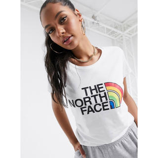 ザノースフェイス(THE NORTH FACE)の【Mサイズ】THE NORTH FACE プリントロゴ Tシャツ ホワイト(Tシャツ(半袖/袖なし))