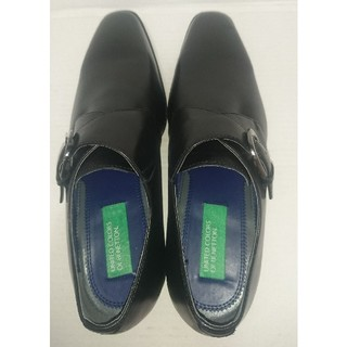 ベネトン(BENETTON)のベネトン メンズ 本革 靴 ビジネスシューズ 24.5cm ブラック 未使用(ドレス/ビジネス)