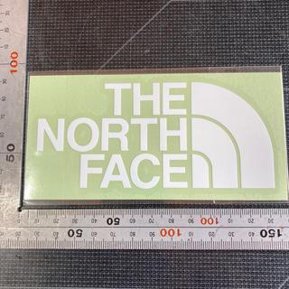 ザノースフェイス(THE NORTH FACE)のノースフェイス 文字残り 白 ステッカー(その他)
