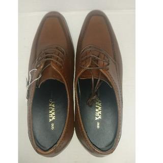 ユキコハナイ(Yukiko Hanai)のメンズ 本革 靴 ビジネスシューズ ユキコハナイ 24.5cm ブラウン 未使用(ドレス/ビジネス)