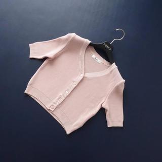 ルネ(René)の■Rene■ 34 ピンク 五分袖 コンパクトカーディガン ルネ(カーディガン)