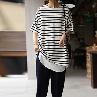アンティカ(antiqua)のアンティカ♡ボーダーTシャツ(Tシャツ(半袖/袖なし))