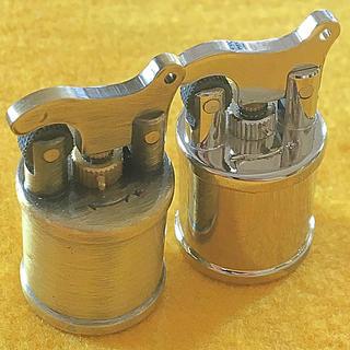 ZIPPO - 国産フジサワ ミニミニリフトアームライター 真鍮ブラス&シルバー 2個セット