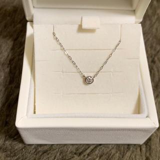4℃ - 4℃  一粒ダイヤモンド ネックレス