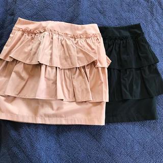 ミシェルマカロン(michellMacaron)のフリルミニスカート2色セット売り(ミニスカート)