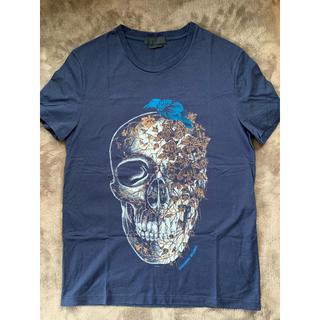 アレキサンダーマックイーン(Alexander McQueen)のAlexander McQueen  刺繍 Tシャツ 紺 S(Tシャツ/カットソー(半袖/袖なし))