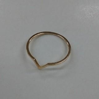 ete - ete K10YGレイヤード トライアングル リング  指輪 エテ 金 ゴールド