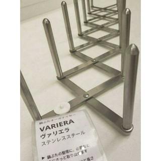 IKEA - 新品♪ディッシュスタンドIKEAの皿・鍋ぶた立て ヴァリエラ ステンレススチール