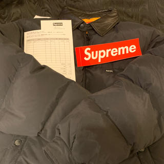 Supreme - supreme leather collar puffy down jacket