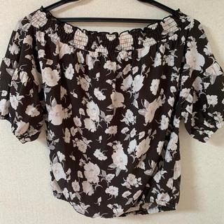 ナチュラルクチュール(natural couture)のnatural couture(NICE CLAUP)花柄トップス(シャツ/ブラウス(半袖/袖なし))