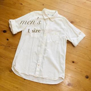 ベルメゾン(ベルメゾン)のmen's★2way 半袖 綿麻 シャツ メンズ(シャツ)