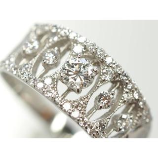 質屋出品ou 良質天然ダイヤモンドリング Pt900 D0.60ct 13.5号(リング(指輪))