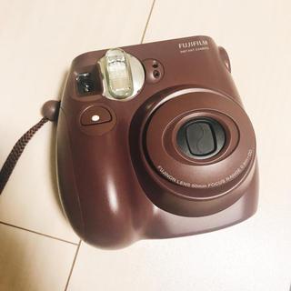 フジフイルム(富士フイルム)のチェキ intax mini 7s choco 本体のみ(フィルムカメラ)