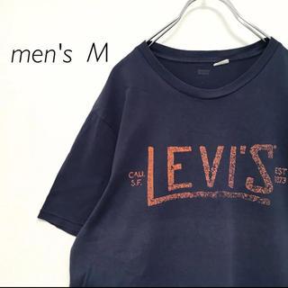 Levi's - Levi's リーバイス デカロゴ  プリント 半袖 Tシャツ メンズ 古着 紺