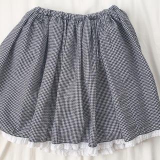 ハニーシナモン(Honey Cinnamon)のハニーシナモン ギンガムチェックスカート(ひざ丈スカート)