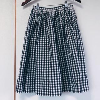 ミナペルホネン(mina perhonen)の【サリースコット】チェック フレアスカート(ひざ丈スカート)