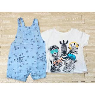 ザラキッズ(ZARA KIDS)のTシャツ・オーバーオール 2枚セット(Tシャツ)