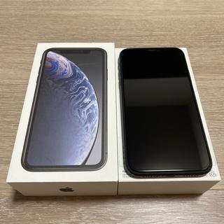 アップル(Apple)のiPhone XR 128GB BLACK 美品(スマートフォン本体)