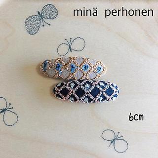 ミナペルホネン(mina perhonen)のミナペルホネン  パッチンピン 6cm  #2-121 nomade(ヘアアクセサリー)