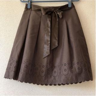 ロディスポット(LODISPOTTO)のロディスポット LODISPOTTO スカート ひざ丈 フレア カットワーク(ひざ丈スカート)