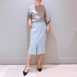 デミルクスビームス(Demi-Luxe BEAMS)のDemi-Luxe BEAMS アウトポケット付 タイトスカート(ひざ丈スカート)