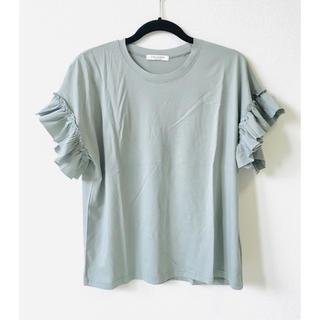 アーバンリサーチ(URBAN RESEARCH)の袖フリル Tシャツ カットソー トップス(Tシャツ(半袖/袖なし))