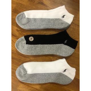 POLO RALPH LAUREN - 新品ポロラルフローレン メンズ靴下 ソックス  3足セットH