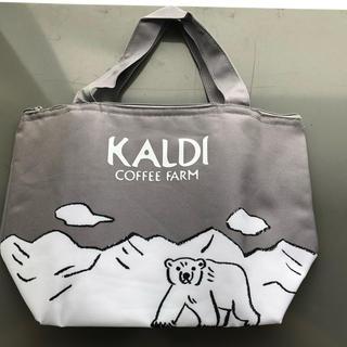 カルディ(KALDI)のカルディKALDI オリジナルひんやり保冷バッグ(弁当用品)