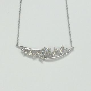 STAR JEWELRY - K18 WG ダイヤモンド0.2ct ネックレス
