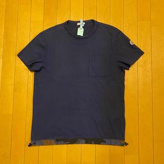 モンクレール(MONCLER)の【美品】モンクレール ポケット Tシャツ カモフラ 迷彩 ネイビー(Tシャツ/カットソー(半袖/袖なし))
