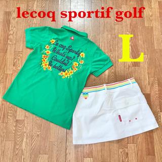 ルコックスポルティフ(le coq sportif)の【lecoq sportif】ルコック  ゴルフ レディース ポロシャツ L(ウエア)