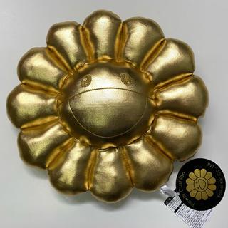 限定カラーkaikaikiki村上隆お花クッション金銀ゴールド シルバー30cm(ぬいぐるみ)
