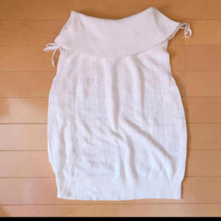 ロディスポット(LODISPOTTO)のLODISPOTTO肩リボンニットトップス(カットソー(半袖/袖なし))