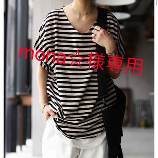 アンティカ(antiqua)のantiqua ドルマンTシャツ トップス ボーダー (Tシャツ(半袖/袖なし))
