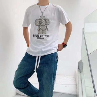 LOUIS VUITTON - [2枚8000円送料込み]LV Tシャツ 半袖 男女兼用 04