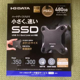 アイオーデータ(IODATA)の★新品 PS4対応 外付けSSD SSPH-UT480K(PC周辺機器)