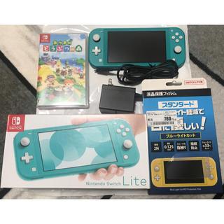Nintendo Switch - ニンテンドーswitch lite ターコイズ あつまれどうぶつの森 中古
