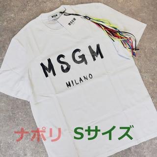 エムエスジイエム(MSGM)のMSGM ミラノ ロゴ Tシャツ ホワイト メンズ(Tシャツ/カットソー(半袖/袖なし))